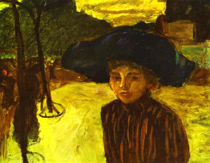 Oil painting:Woman in a Blue Hat. 1908