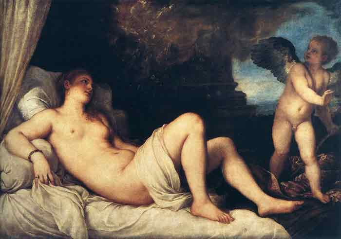 Oil painting for sale:Danae and the Shower of Gold, 1554
