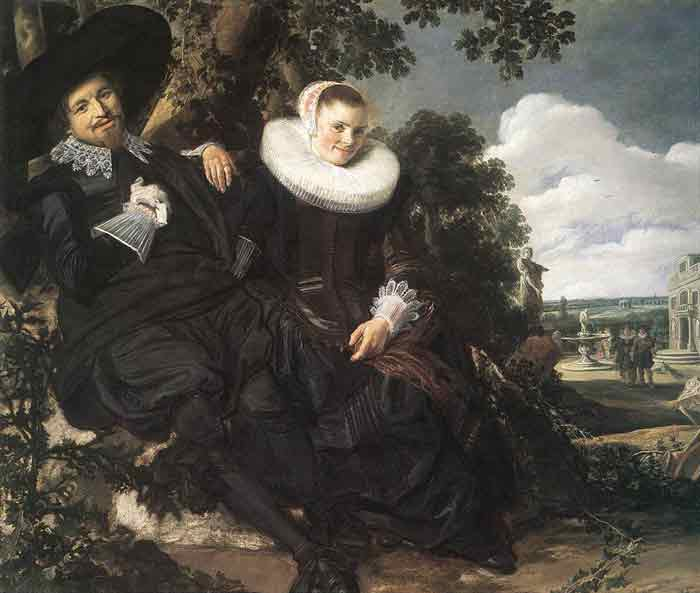 Oil painting for sale:Married Couple in a Garden, c.1622