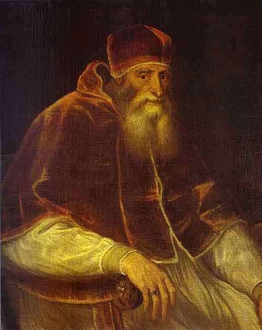 Portrait of Pope Paul III. 1548