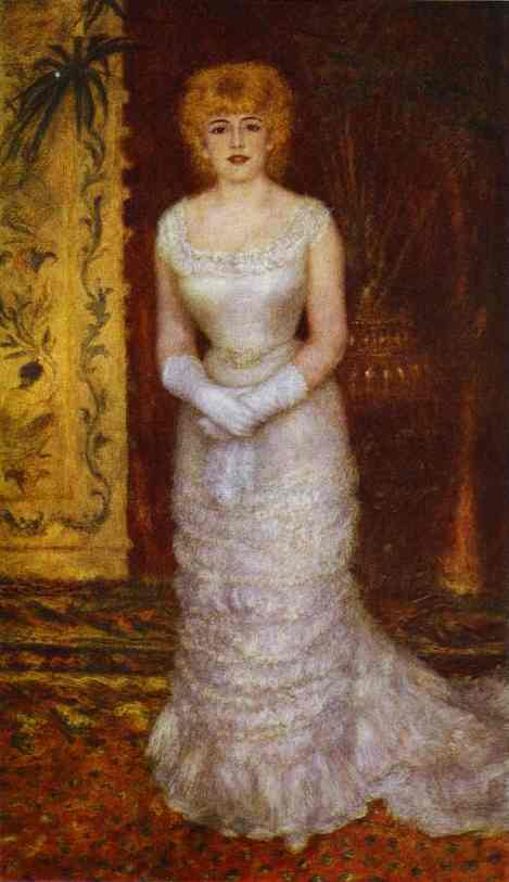 Oil painting:Portrait of the Actress Jeanne Samary. 1878