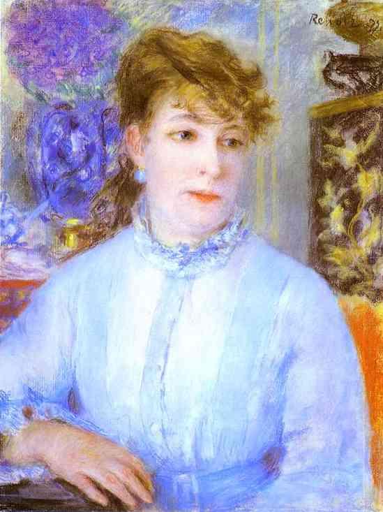 Oil painting:Portrait of a Woman. (Portrait de femme). c. 1877