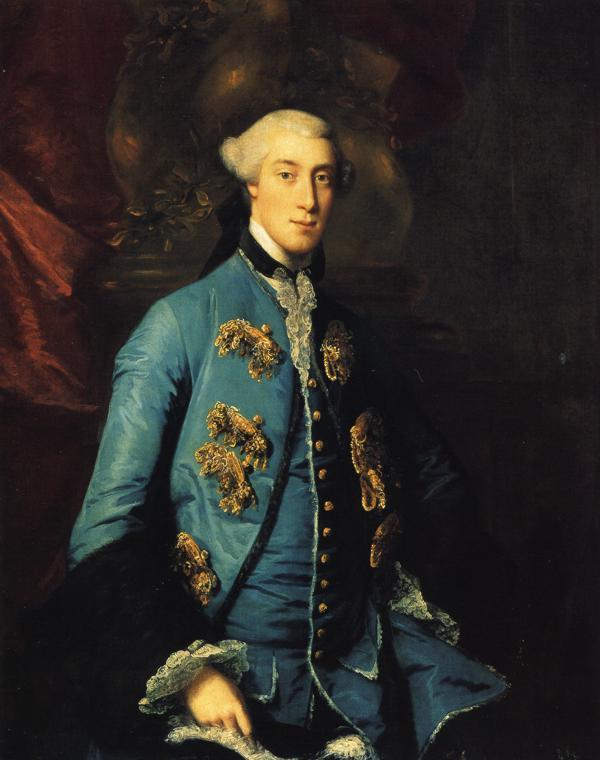Oil painting:Francis Hastings, Earl of Huntingdon. 125.7 x 100.3 1754
