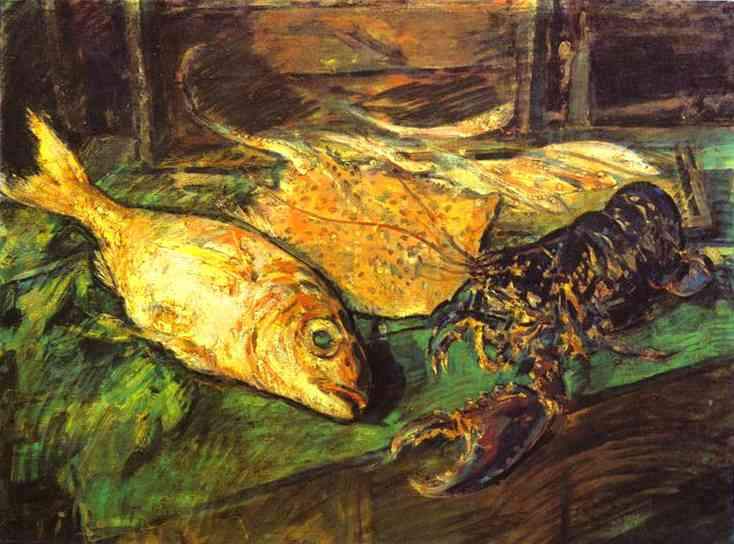 Oil painting: Still Life with Lobster. 1930