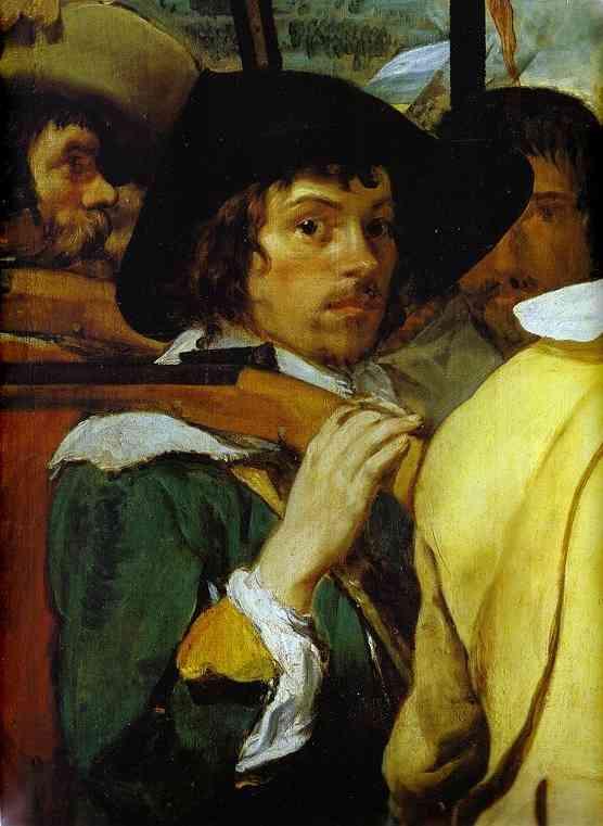 Oil painting:Surrender of Breda (Las Lanzas). Detail. 1634