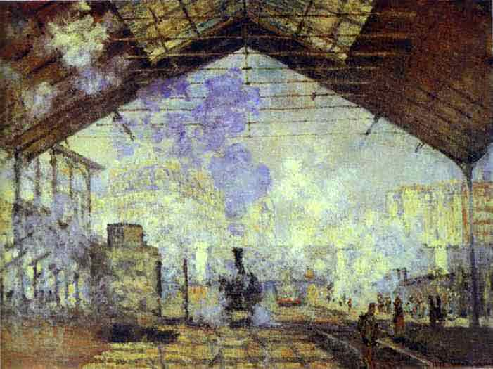 Gare Saint Lazare, Paris 1877.