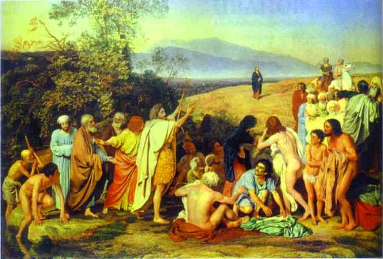 Oil painting:The Appearance of Christ to the People. 1837-1857