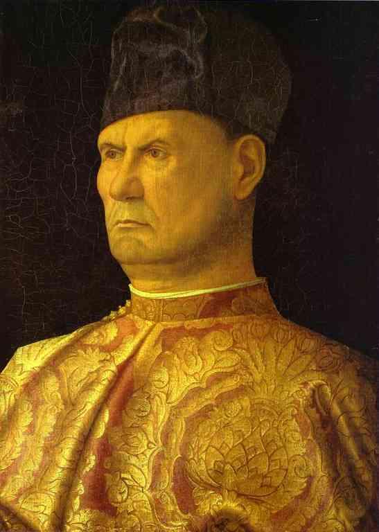 Oil painting:Portrait of a Condottiere (Giovanni Emo). c. 1475