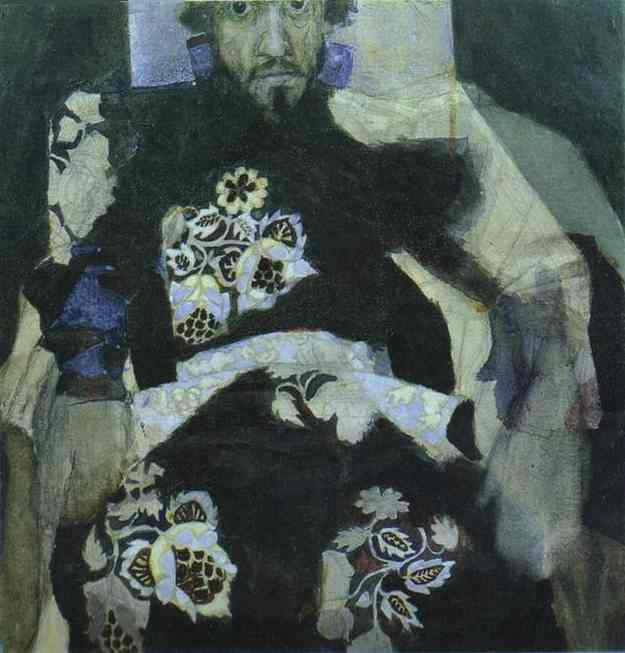 Oil painting:A Man in a Russian Old-Style Costume. 1886