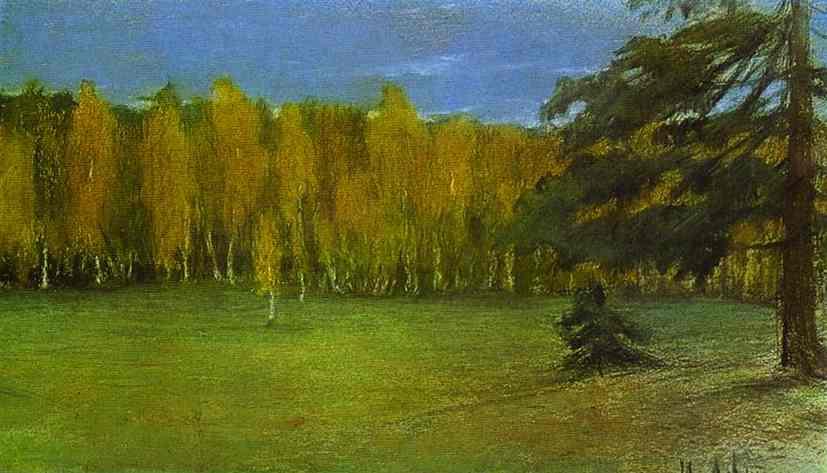 Oil painting:Autumn Landscape. 1890