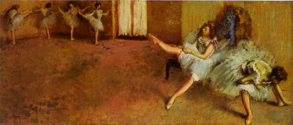 Oil painting:Before the Ballet. 1888