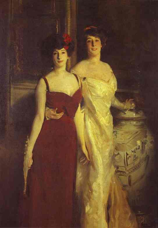 Oil painting:Ena and Betty, Daughters of Asther Wertheimer. 1901