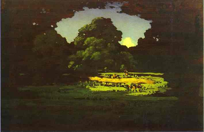 Oil painting:Grove. 1898