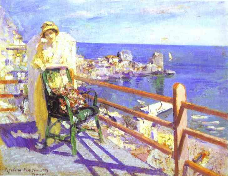 Oil painting: Gurzuf. 1914