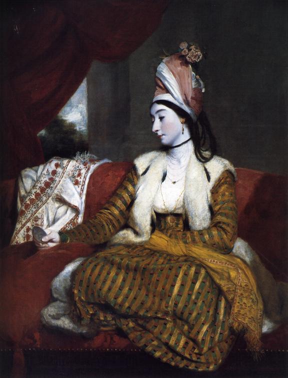 Oil painting:Mrs Baldwin. 1782