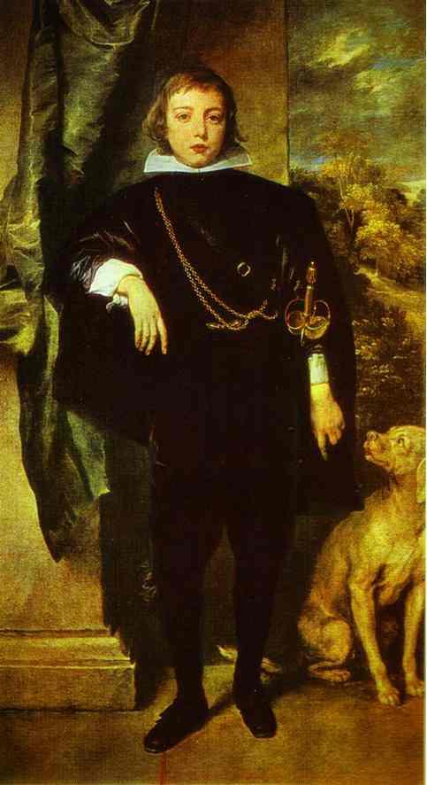 Oil painting:Prince Rupert von der Pfalz. 1631