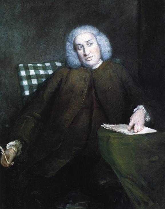 Oil painting:Samuel Johnson. 1756