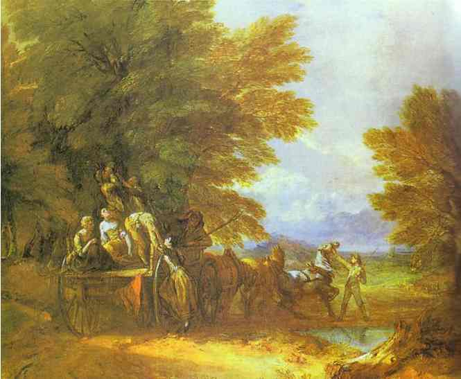Oil painting:The Harvest Wagon. Exhibited S.A. 1767