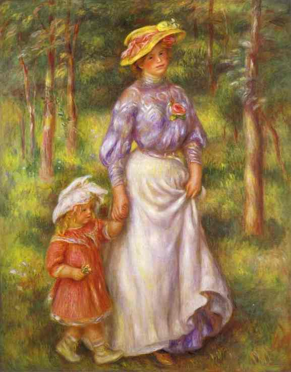 Oil painting:The Walk. c. 1906