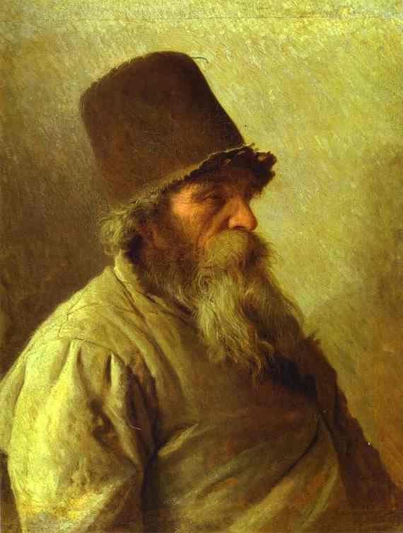 Oil painting:Village Elder. 1873