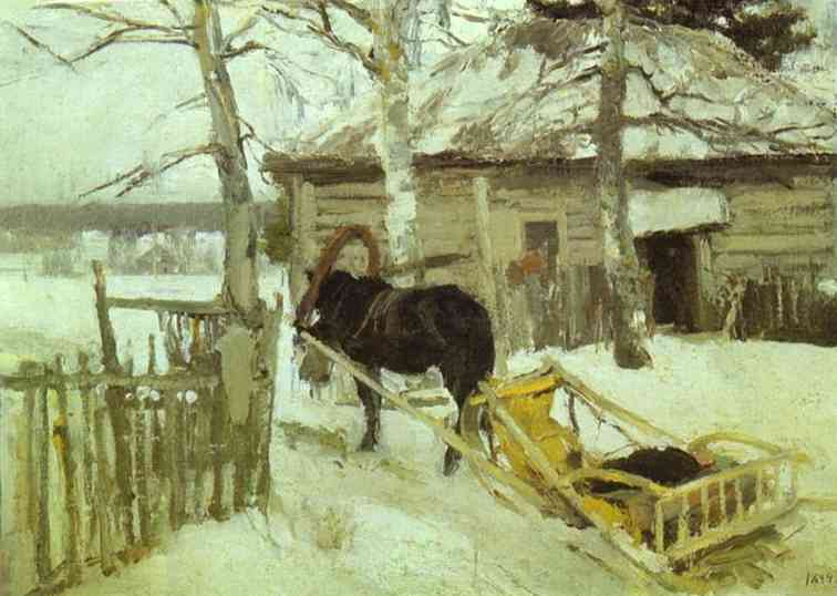 Oil painting: Winter. 1894