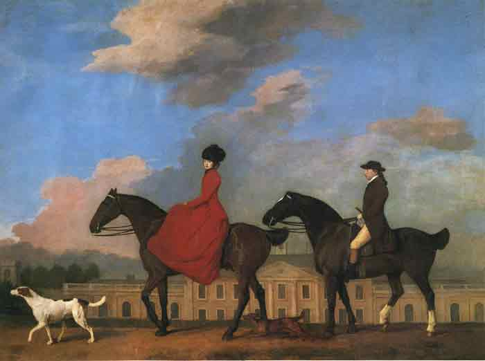 Oil painting for sale:John and Sophia Musters Out Riding at Colwick Hall, 1777
