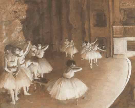 Rehearsal of a Ballet on Stage