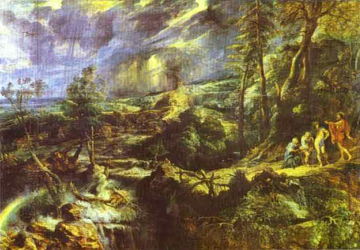 Stormy Landscape with Philemon and Baucis. c.1620
