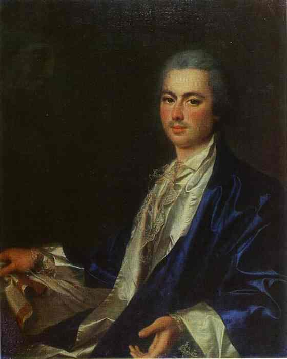Oil painting:Portrait of an Unknown Man from Saltykov Family. 1780