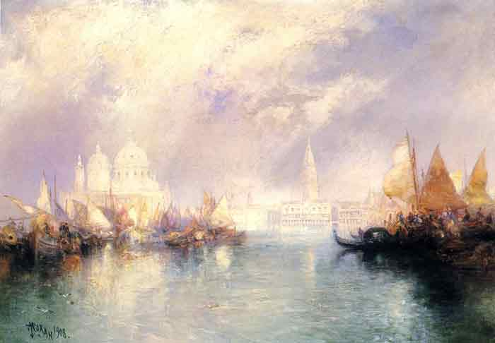 Oil painting for sale:The Church of Santa Maria della Salute, Venice, 1908