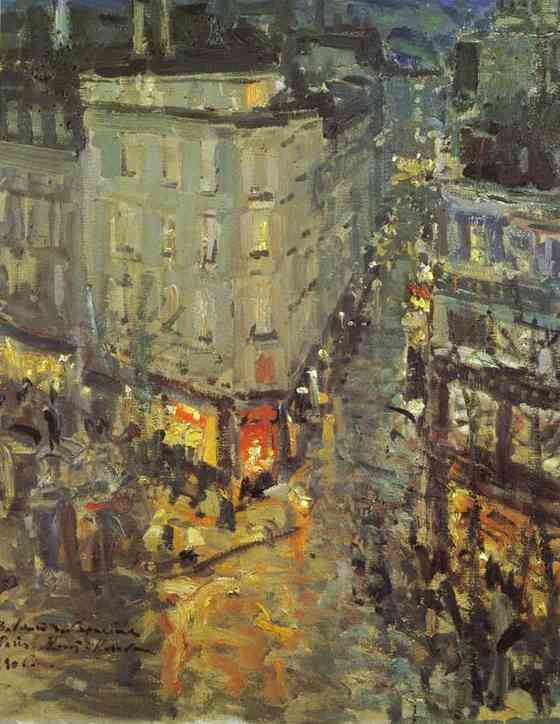 Oil painting: Paris. Boulevard des Capucines. 1906