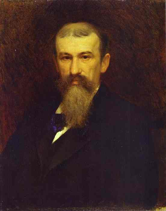 Oil painting:Portrait of the Artist Alexander Sokolov. 1883