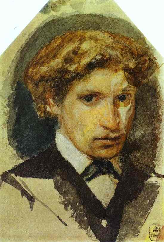 Oil painting:Self-Portrait. 1882