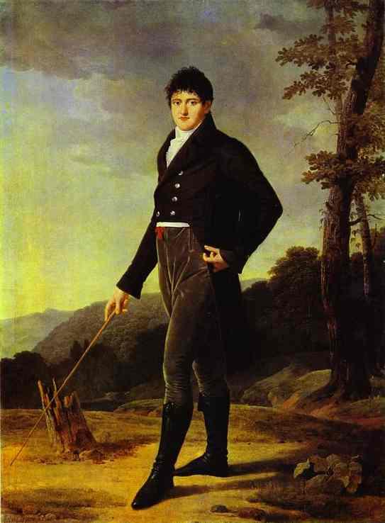 Oil painting:Portrait of Count Andrei Bezborodko. 1804