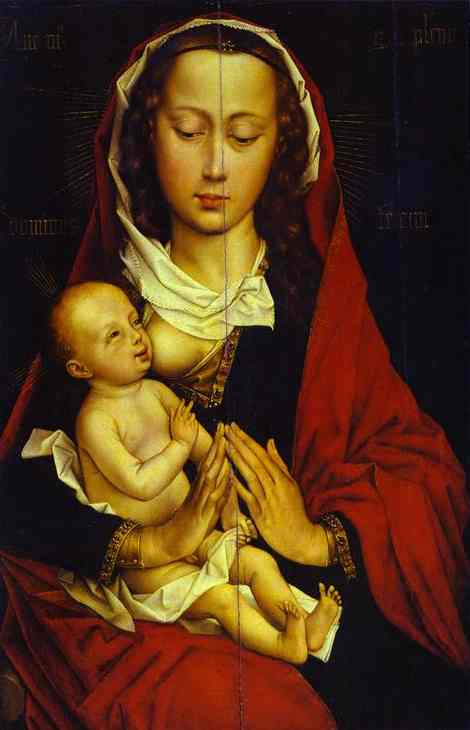 Oil painting:Madonna and Child. c.1460