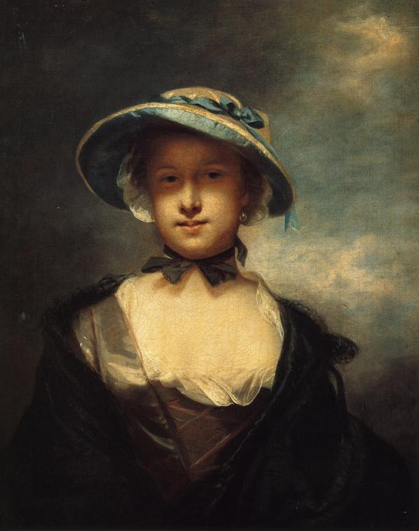 Oil painting:Catherine, Lady Chambers. 1756