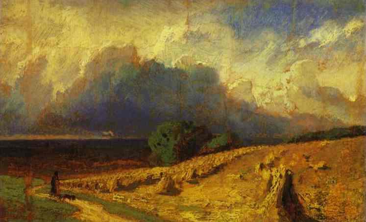 Oil painting:Cloud.