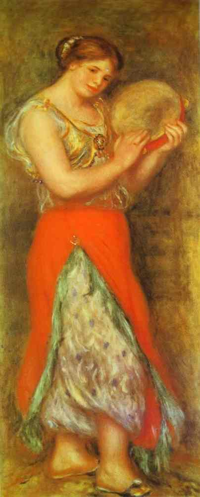 Oil painting:Dancer with Tambourne (Gabrielle Renard). 1909