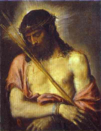 Oil painting:Ecce Homo. c.1558