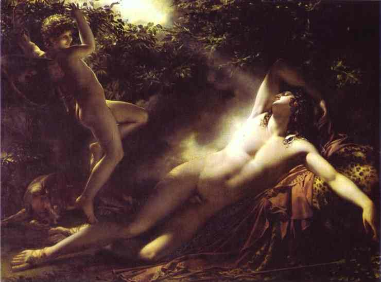 Oil painting:Endymion Asleep. 1793