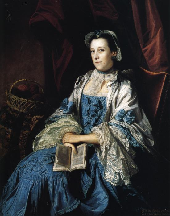 Oil painting:Gertrude, Duchess of Bedford. 1756