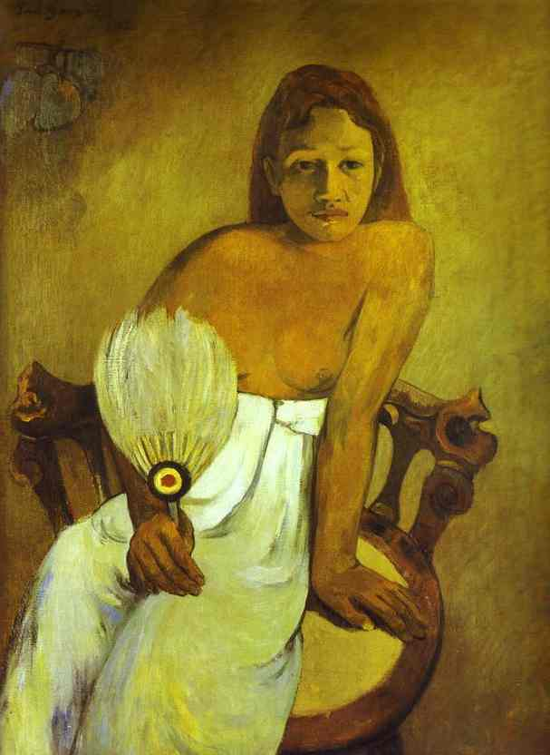 Oil painting:Girl with a Fan. 1902