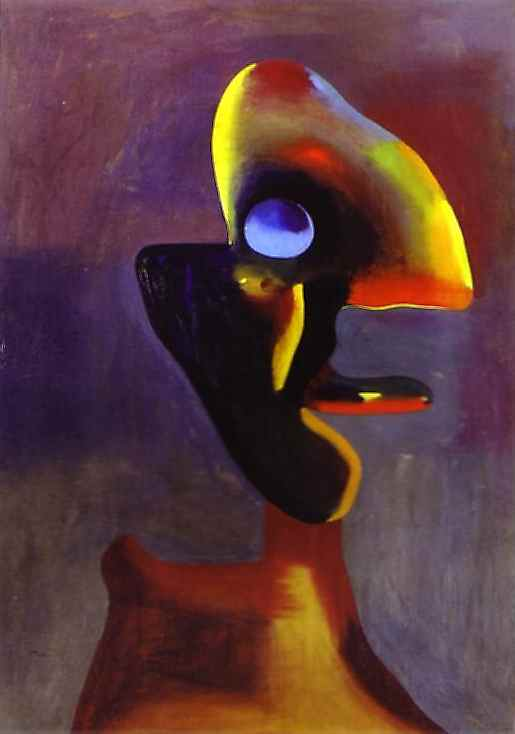 Oil painting:Head of a Man. 1935