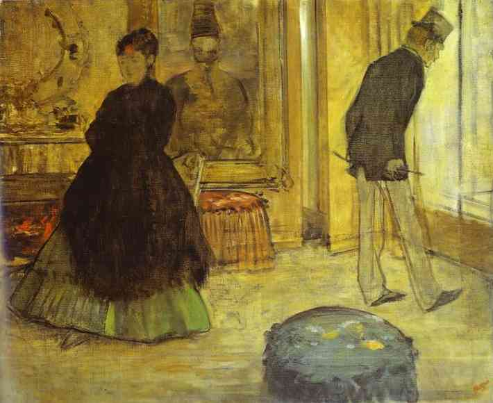 Oil painting:Interior with Two People (Int