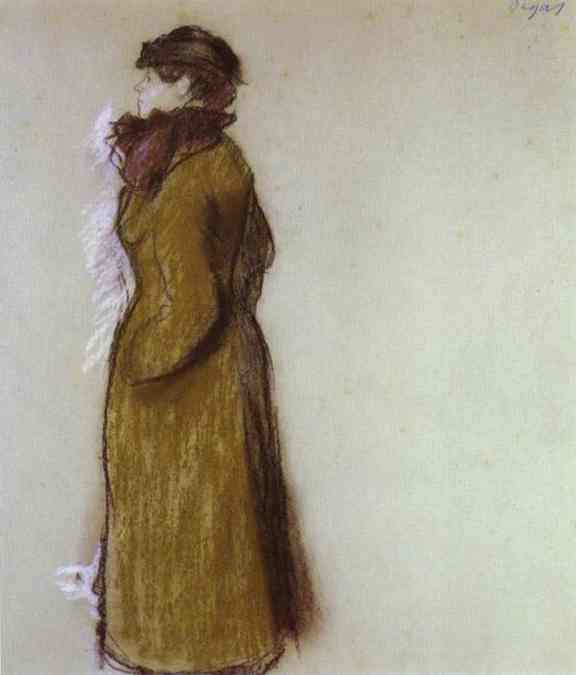 Oil painting:Lady in Town Clothes. c. 1879