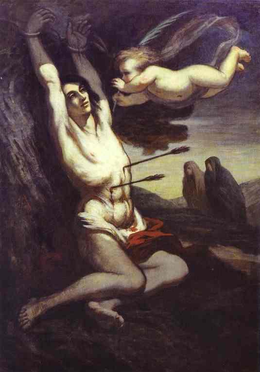 Oil painting:Martyrdom of St. Sebastian. c. 1849