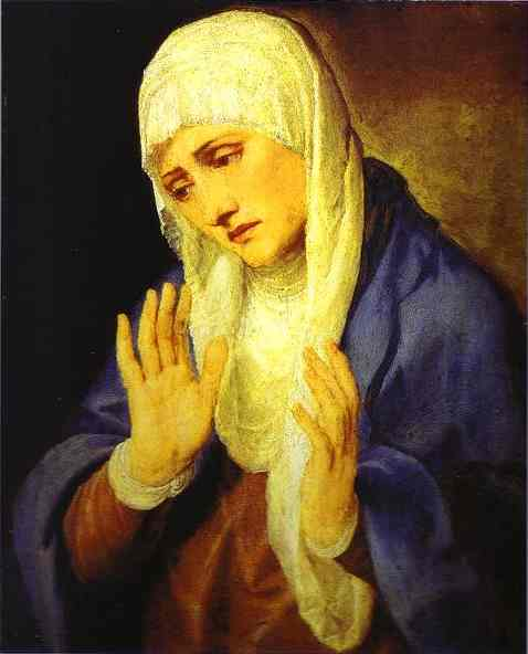 Oil painting:Mater Dolorosa. 1553