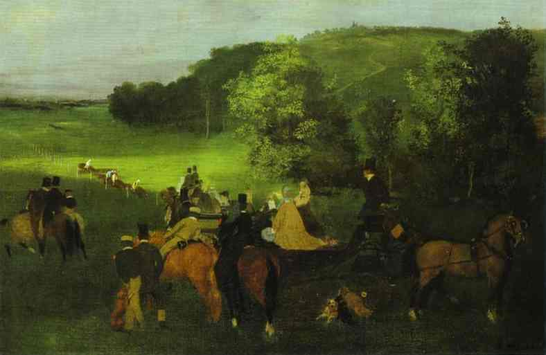 Oil painting:On the Racing Field. 1861