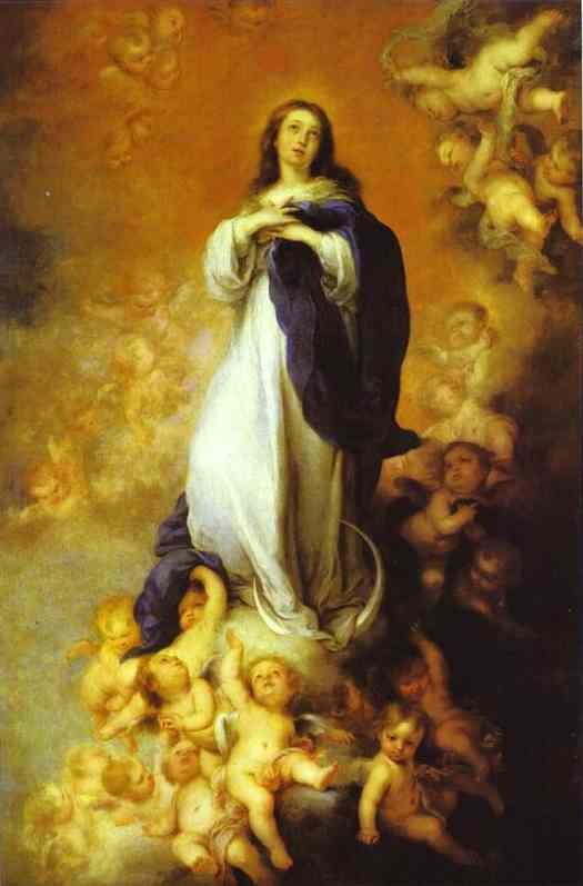 Oil painting:Our Lady of the Immaculate Conception. c.1678