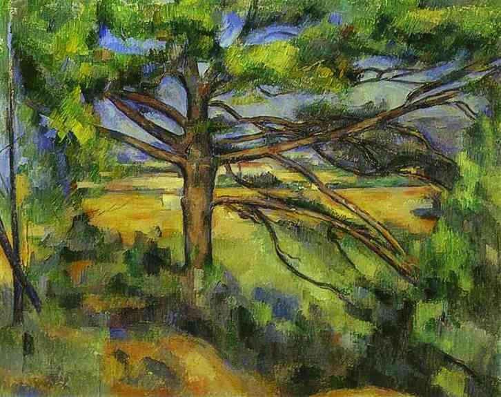 Oil painting:Pine Tree near Aix. 1890